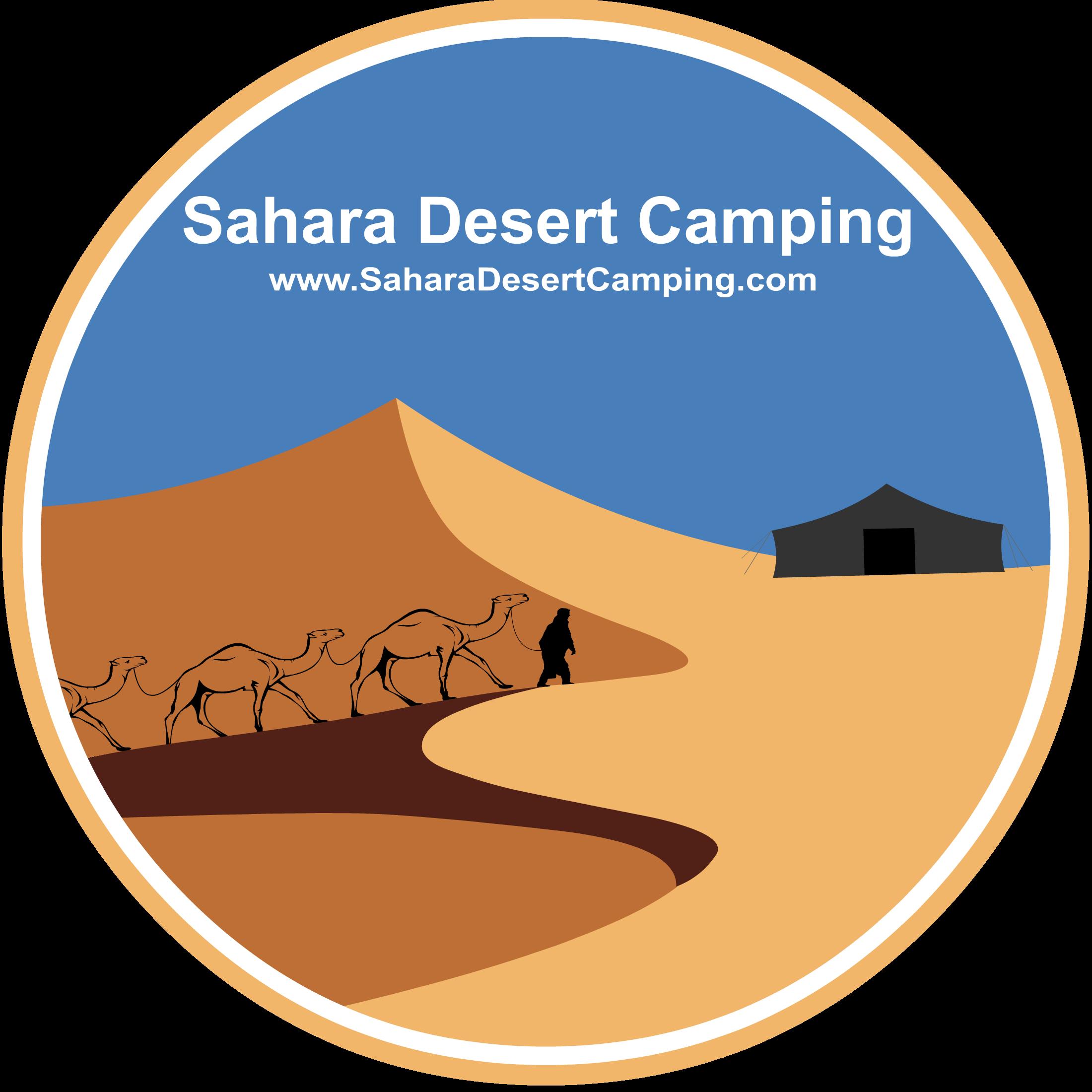 Sahara Desert Camping official circle logo Campground Sahara Luxury Camp, Merzouga, Morocco Desert camps morocco : Merzouga luxury desert camps