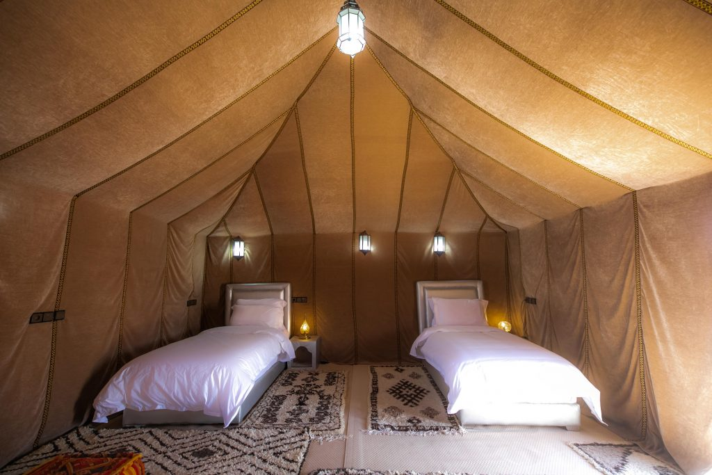 LUXURY TWIN TENT SAHARA DESERT CAMPING MOROCCO
