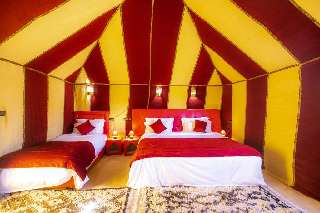 LUXURY SINGLE TENT SAHARA DESERT CAMPING MOROCCO