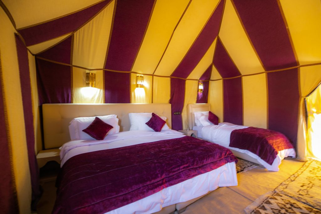 LUXURY DOUBLE/TWIN TENT SAHARA DESERT CAMPING MOROCCO