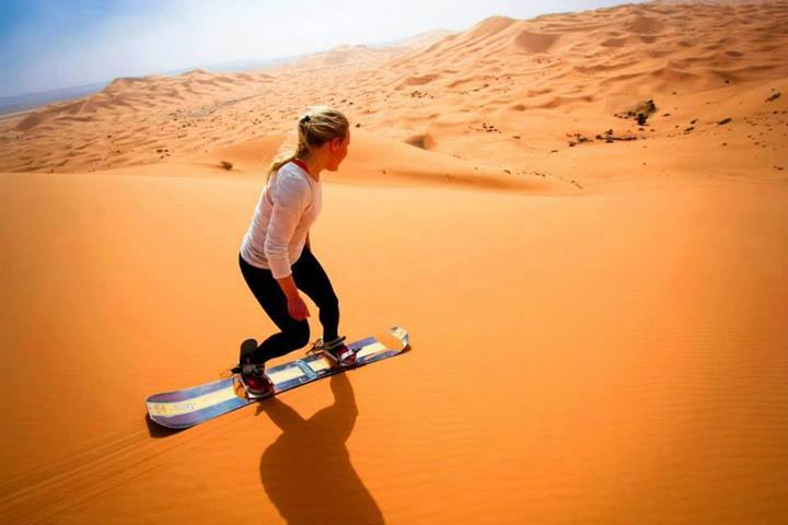 SANDBOARDING MERZOUGA ERG CHEBBI DUNESSAHARA DESERT CAMPING MAIN CAMP LUXURY DESERT CAMP BEST